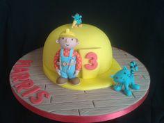 Bob the Builder Cake Second Birthday Cakes, 1st Boy Birthday, Bob The Builder Cake, Truck Cakes, Character Cakes, Cakes For Boys, Fondant Cakes, Cakes And More, No Bake Cake