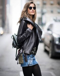 Leather coat season is upon us  #ootd #nyc #vibes  via COSMOPOLITAN MAGAZINE OFFICIAL INSTAGRAM - Fashion Campaigns  Haute Couture  Advertising  Editorial Photography  Magazine Cover Designs  Supermodels  Runway Models
