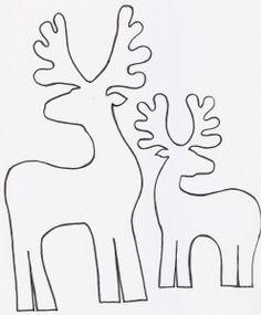 reindeer christmas cut out Noel Christmas, Christmas Colors, All Things Christmas, Christmas Decorations, Christmas Ornaments, Reindeer Christmas, Applique Templates, Applique Patterns, Christmas Templates