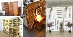 Separè con pallet... 20 idee da cui trarre ispirazione! Mini Loft, Rope Shelves, Pallet Furniture, Decoration, Home Improvement, Inspirer, Diy, Wood Ideas, Pallet Ideas