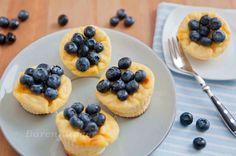 Zitronen Cheesecake Muffins mit Heidelbeeren