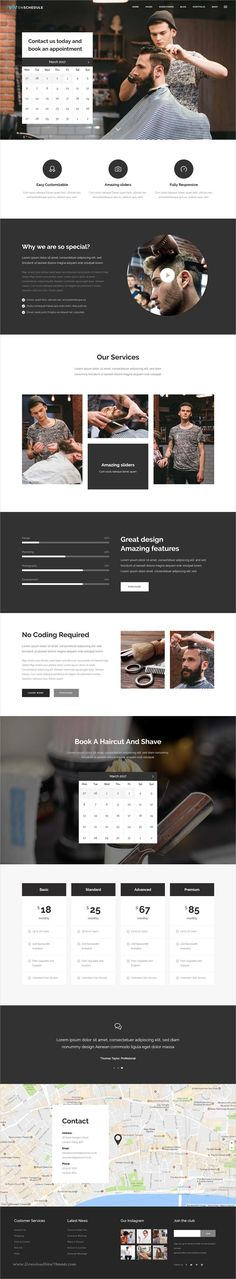 OnSchedule is a wonderful 12in1 responsive #WordPress theme for #barber shop business and retail websites with online booking system download now➩ https://themeforest.net/item/onschedule-a-booking-theme-for-business-and-retail/19330492?ref=Datasata