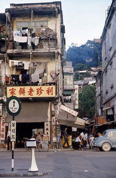 1965 Unknown street,  scene in Hong Kong.