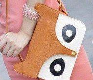 Hylian Shop: fox  purse, fox tote, fox bag, orange, brown, cute animal purse. soft pu leather