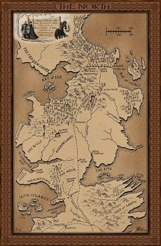 "Map of the North (George R.R. Martin's ""Game of Thrones"")"