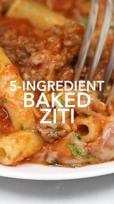 Pasta Recipes, Beef Recipes, Healthy Recipes, Gluten Free Ziti Recipes, Baked Ziti Recipes, Easy Italian Recipes, Easy Crockpot Recipes, Easy Meal Ideas, Simple Recipes For Dinner