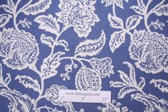 Upholstery Fabric :: All Upholstery Fabric :: Robert Allen Jacobean Toss Cotton Upholstery Fabric in Indigo $20.95 per yard -