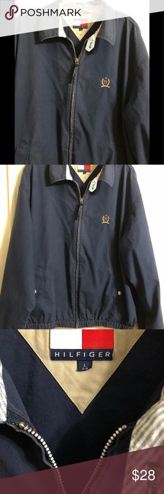 Tommy Hilfiger Big /& Tall Men/'s Red White /& Blue Color Block Field Crest Jacket