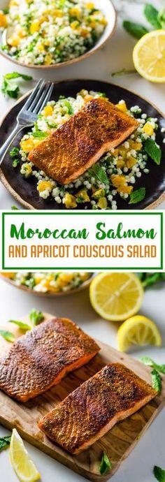 Moroccan Salmon & Apricot Couscous Salad