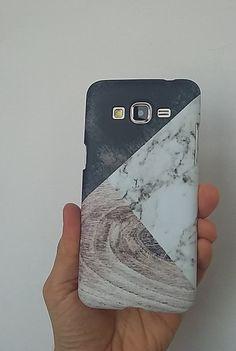 Holz weiße Marmor Telefon Case für Samsung von sweetcasesweet