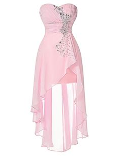 dresses bride on sale at reasonable prices, buy Grace Karin Pink Bridesmaid Dresses Cheap Strapless Chiffon Formal Dress Turquoise Bridemaid Dresses Short In Front Long In Back from mobile site on Aliexpress Now! Cute Prom Dresses, Pink Bridesmaid Dresses, Homecoming Dresses, Pretty Dresses, Beautiful Dresses, Short Dresses, Formal Dresses, Dresses Dresses, Fall Dresses