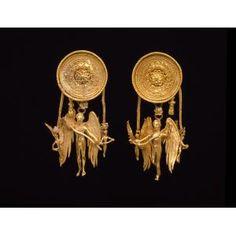 Eros earrings, Greek,Date: late 4th century B.C.