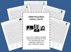 Black History Month Word Searches FREEBIE!
