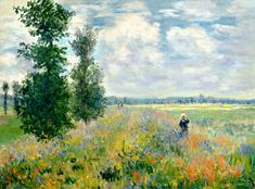 Poppy Field, Argenteuil by @claude_monet #impressionism