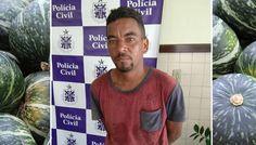 PM prende acusado de roubar abóboras em fazendo no Prado