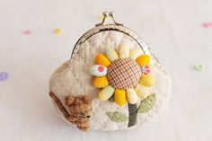 Complete Sunflower Change Purse Kit - Crafts and Supplies $15.99 for everything!