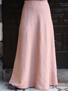SHUKR | Linen Paneled Skirt | Islamic Long Skirts for natural fabric lovers
