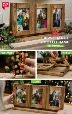 Show off your favorite photos with this DIY easy-change photo frame! Get the how-to on our Smile blog.