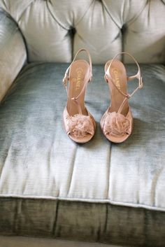 Blush-coloured Chanel sandals