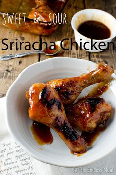 Sweet and Sour Sriracha Chicken #recipe