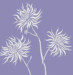 Flower Stencils Chrysanthemum Stencil