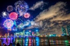 One of the prettiest pics of a fireworks display I've ever seen! Hope to see some good ones this July 4th.