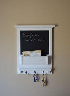 "18"" x 22.5"" Chalk Board Organizer letter holder  Key / Coat / Hat rack - shabby chic - Home Decor - Crate & Barrel on Etsy, $159.00"