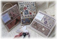 Les Lettres de mon Jardin ...versions rose et mauve - Petits points au jardin xxx