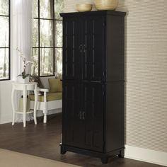 Home Styles Arts & Crafts Kitchen Pantry - Black | www.hayneedle.com
