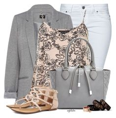 """""""Printed Cami and Blazer for Spring"""" by angkclaxton ❤ liked on Polyvore featuring Jane Norman, Oasis, Dorothy Perkins, Michael Kors and Sole Society"""
