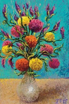 Freshly Painted Vase - Canvas Print Iris Scott