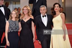 Producer Jodie Foster, actors Julia Roberts, George Clooney and his wife Amal Clooney attend the 'Money Monster' premiere during the 69th annual Cannes Film Festival at the Palais des Festivals on May 12, 2016 in Cannes, France.