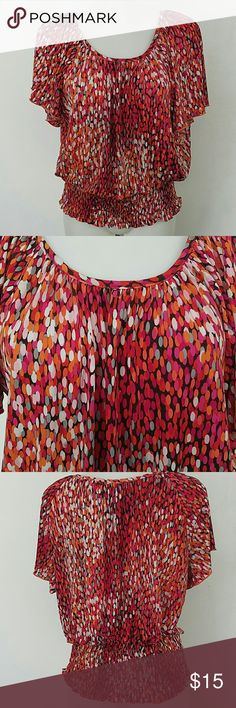 """Cato Blouse Top Cato Blouse Top. In great condition. Size small.  Bust 40"""" Length 24"""" The material is stretchy. Cato Tops Blouses"""