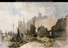 William Callow - The Fish Market, Folkestone Harbour