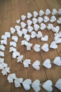 3-d White Heart Garland- DIY project?