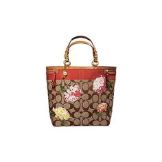 fd22730967 ... where can i buy coach official site signature stripe floral travel tote  liked on polyvore featuring