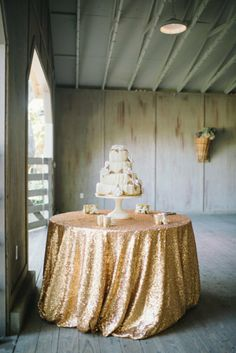 Sequin Tablecloth. i would use this year round