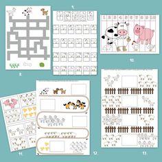 Letölthető állatos feladatlapok és játékok óvodásoknak. Printable Worksheets, Printables, Educational Toys For Kids, Periodic Table, Preschool, Bullet Journal, Activities, Creative, Periodic Table Chart