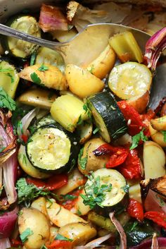 """NYT Cooking: This recipe came to The Times in 1991 by way of Paula Wolfert, the prolific Mediterranean cookbook author and James Beard Award winner. It is a simple treatment she obtained from a woman in Corfu, an island off the coast of Greece in the Ionian Sea. It makes the best of a medley of vegetables – and the recipe can be varied according to what is on hand. """"The%2..."""