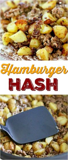 Easy and Affordable Hamburger Hash recipe from The Country Cook ad dinner groundbeef potatoes Dinner Ideas Hamburger Meat, Hamburger Meat Recipes Ground, Hamburger Hash, Meat Recipes For Dinner, Easy Meals With Hamburger Meat, Recipes With Hamburger And Potatoes, Ground Beef Hash Recipe, Recipes Using Hamburger, Hamburger Dishes