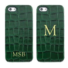Graphic Image iPhone 5 Hard-Shell Case   Crocodile Embossed Leather