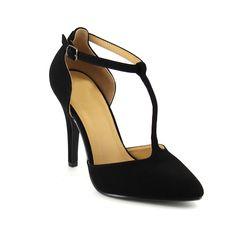 Love Delicious Women's Faux Ankle Strap Stiletto Heel Pumps