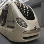 Driverles Personal Rapid Transit electric vechicle by 2getthere (Utrecht, Netherlands.) Technology already in operation for Masdar City (Abu Dhabi,) and Rivium Business Park (Rotterdam) -- coming to Singapore by the end of 2106. #automated #driverless #electric #vehicle #prt #Utrecht #Netherlands #2getthere