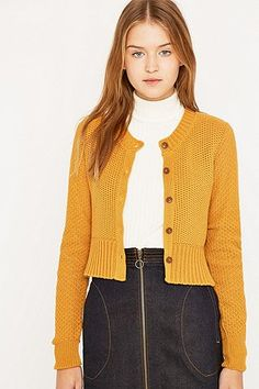 Urban Outfitters Cute Cropped Cardigan - Urban Outfitters