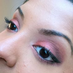 #motd is a smoky burgundy eye look using @themakeupgeek shadows  Browbone: Peach Smoothie  Crease: Bitten Lid: Roulette (#vegaslightspalette) Outer third: Burlesque  Outer corner: Corrupt Tear duct: Shimma Shimma   #crueltyfree #makeup #makeuplook #smokyeye #fotd #brownskin #blackeyes #hotashi