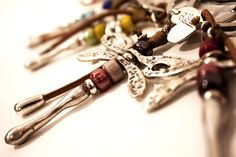Facebook, Silver Bathroom, Key Rings, Leather, Crystals, Blue Nails, Handmade