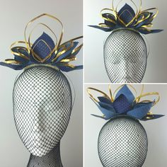 Blue leather with gold wire crown for your inner super hero!  Let her shine, ladies!