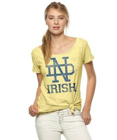 Notre Dame Irish Scoop Neck Tee