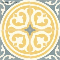 Cement Tile Shop has beautiful in stock handmade encaustic cement tile ready to ship.