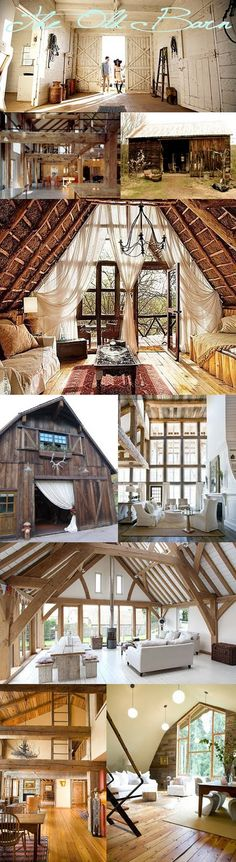 How i would love to live in one of these spaces! (Which this blogger found all on Pinterest! Dove Tree Art & Design)